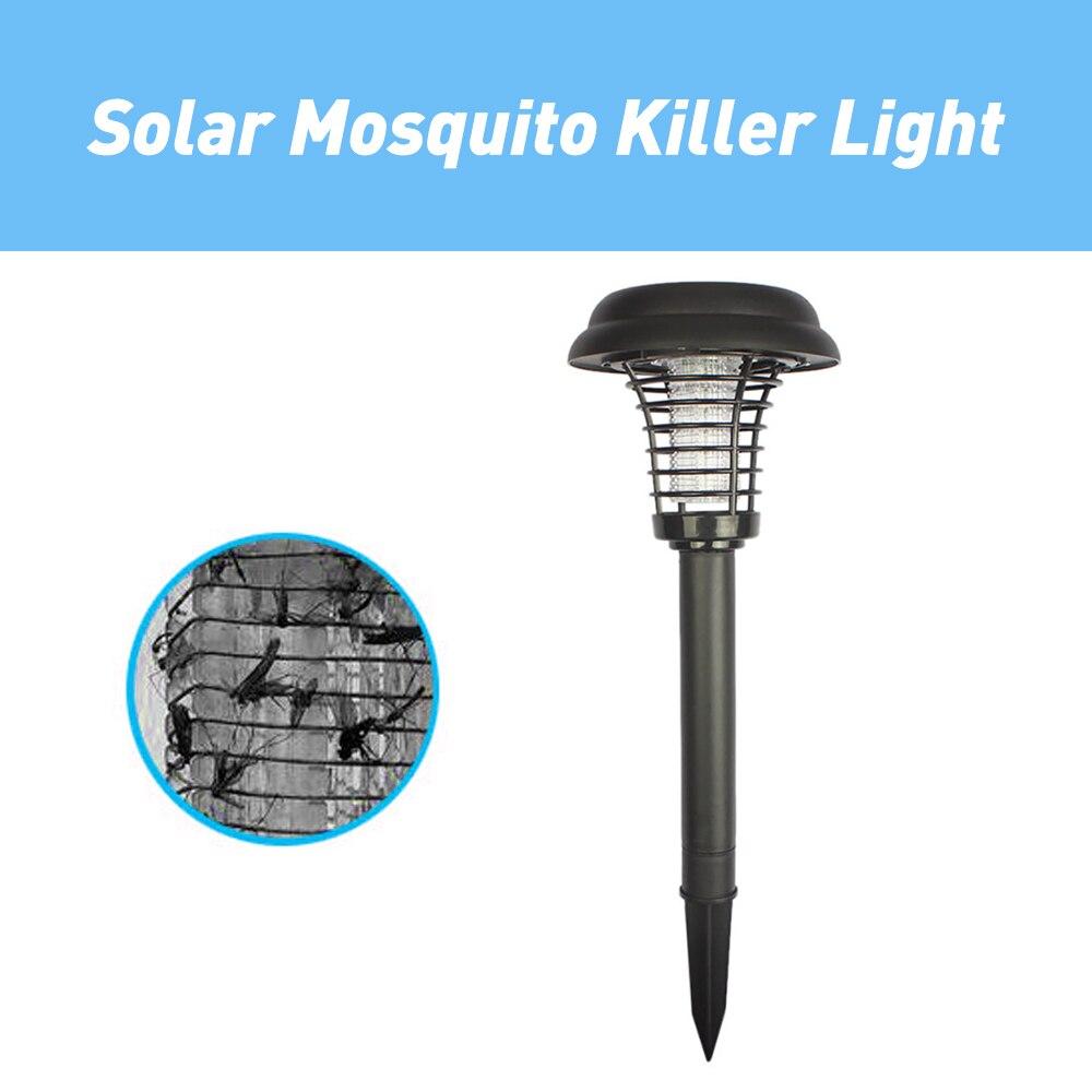 LED Solar Mosquito asesino al aire libre jardín césped lámpara bug zapper Killer