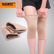 AOLIKES 1 Paar Elastische Sport Been Knie Brace Wrap Protector Kniebeschermers Mouwen Cap Patella Guard Volleybal Knie