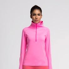 Frauen lauf jacke mantel kompression strumpfhosen sport fitness übung shirt trikots kleidung gym langarm jacke