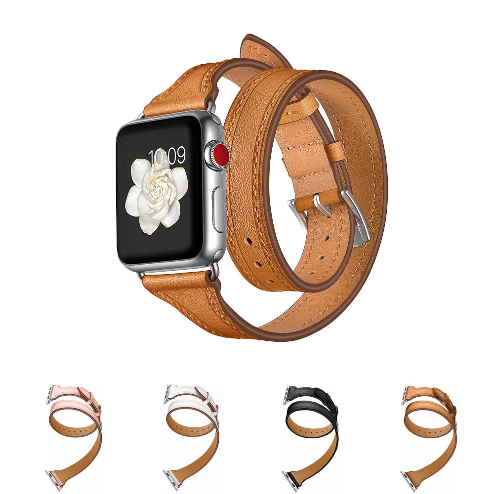 Ремешок из натуральной кожи для Apple watch band 40 мм 44 мм 42 мм 38 мм