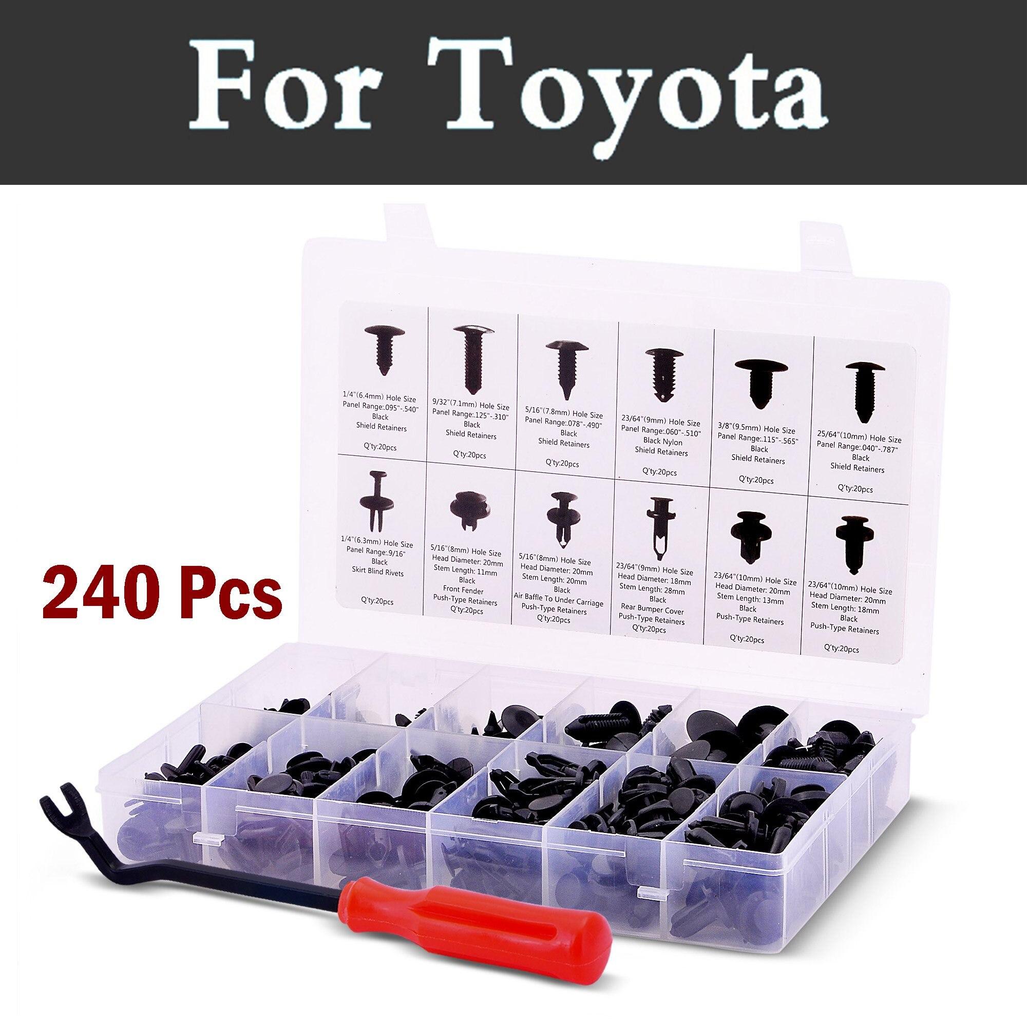 240x/conjunto de caja de plástico Auto Cuerpo Tipo de empuje retenedor de remaches para Toyota 4 runner Allex Allion aurion Auris Venza Avalon