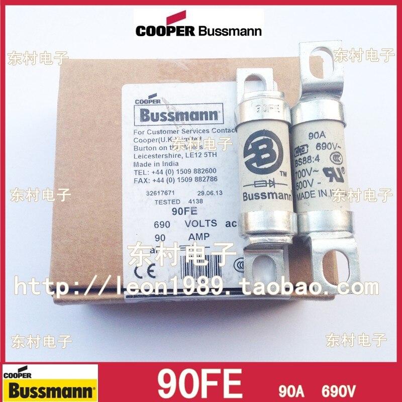 Fusível us bussmann 690 v 90a bs88 4 fusíveis 90fe importação original novo
