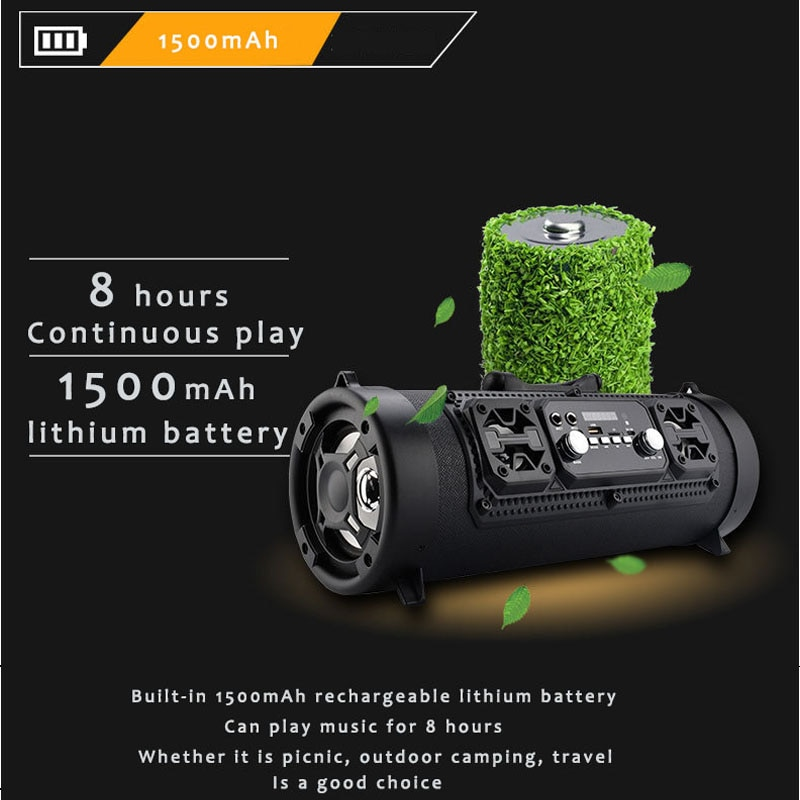 M17 portable bluetooth speaker High Power 20W Soundbar Wireless Column Outdoor Subwoofer Support Mic Move KTV PK Boombox Xtreme enlarge
