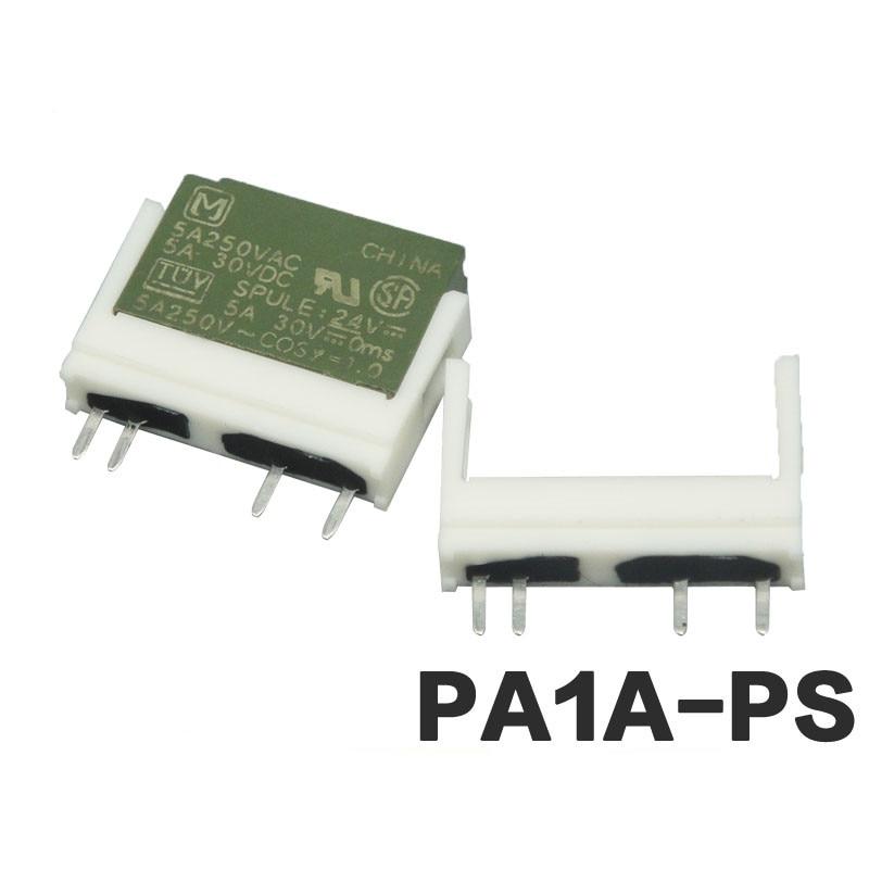 50 قطعة PCB تتابع قاعدة 4 دبوس PA1A-PS دعم HF49F-1H11 PA1A-24VDC PA1A-12VDC