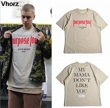 But Tour T-Shirt hommes femmes décontracté Hip Hop Skateboard Justin Bieber T-Shirt Streetwear T-Shirt ma maman ne vous aime pas