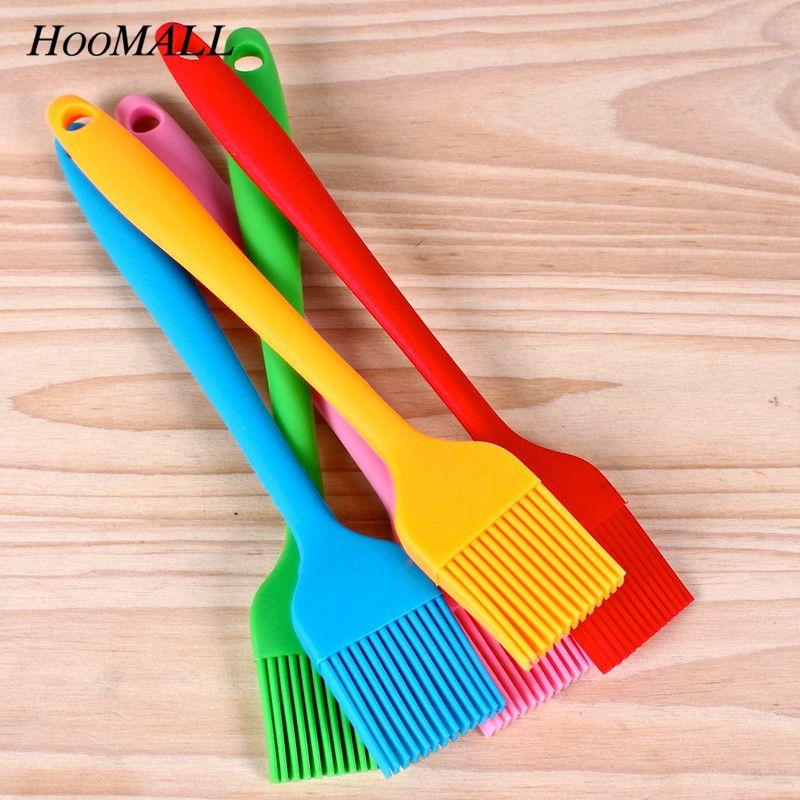 Hoomall силиконовые щетки для масла, для торта Хлеб сливочный многоцветная щетка для выпечки Кондитерские инструменты для выпечки Кухня безопасность барбекю щетка 21x3cm