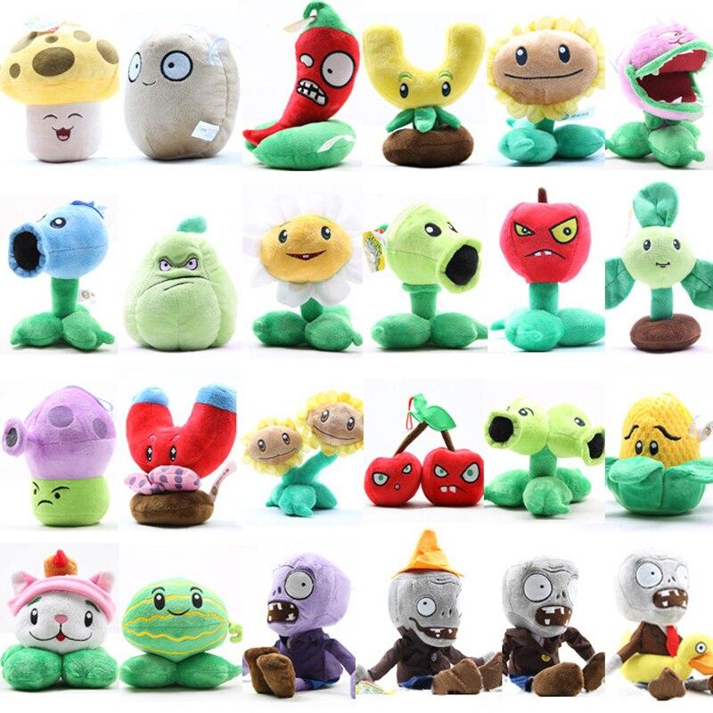 24pcs/lot Plants vs Zombies Plush Stuffed Toys PVZ Plants vs Zombies Plants & Zombies Plush Toy Doll for Kids Gifts Party Toys