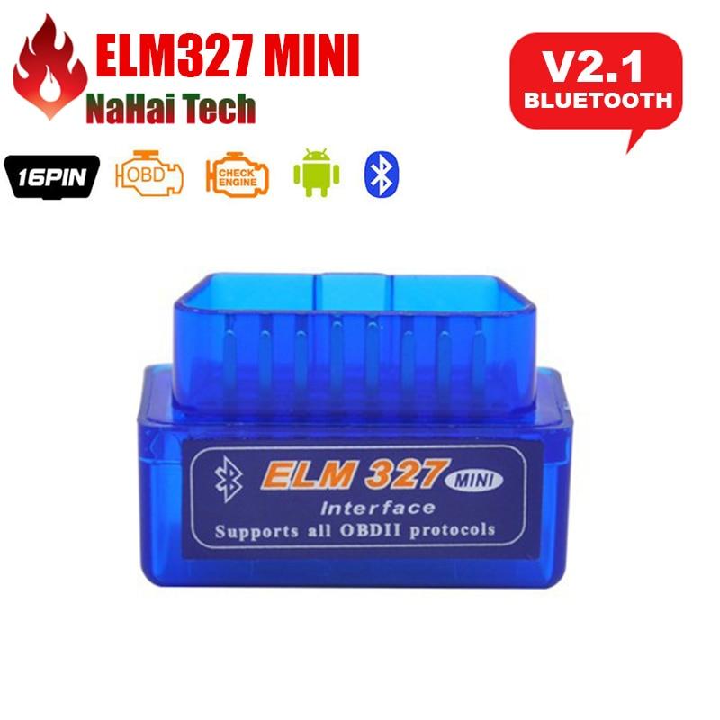Super Mini ELM327 Bluetooth интерфейс, V2.1, работает на Android Torque Bluetooth Elm 327 OBD2 OBD II автомобильный диагностический инструмент, 2019