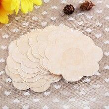 Pratique 5 paire femmes nouveau mamelon couvre coussinets patchs auto-adhésif robe de fête de mariage jetable confort poitrine pétales