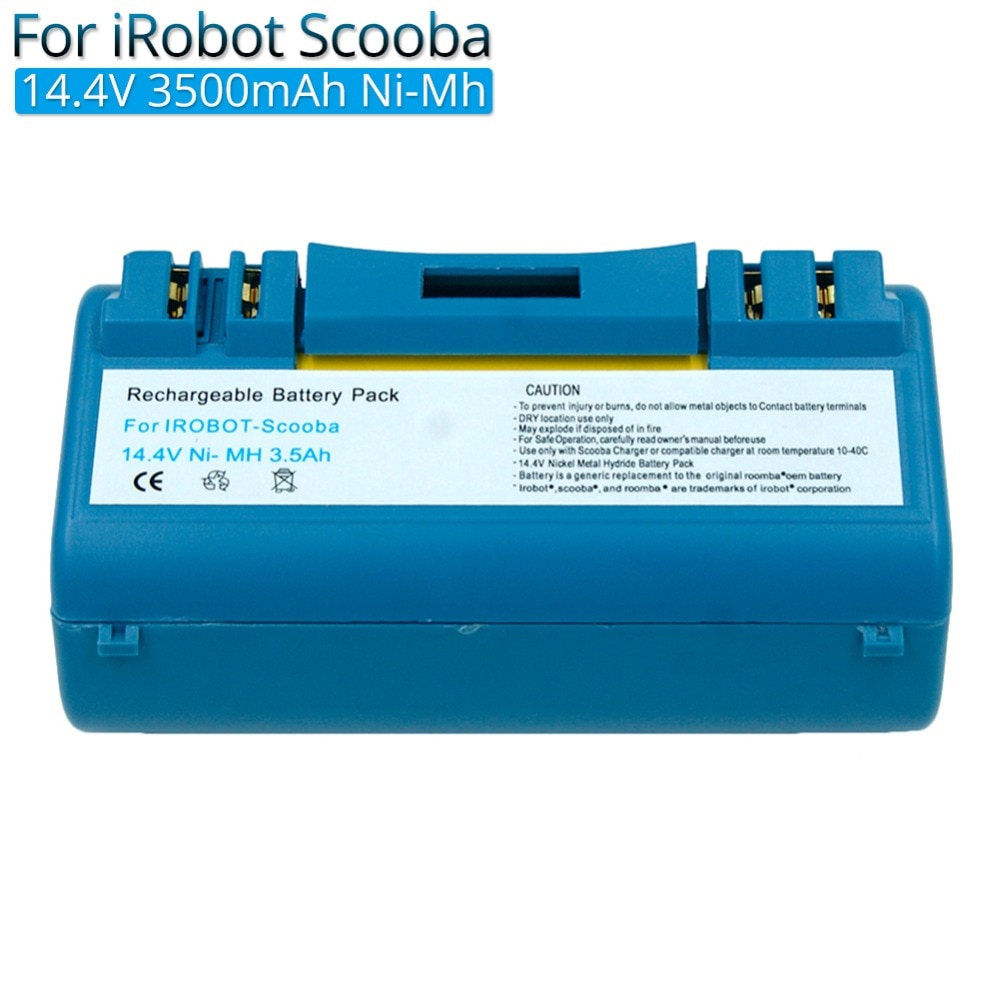Пылесосы аккумуляторная батарея 14,4 V 3500mAh Ni-MH для iRobot Скуба батареи 330 350 380 390 34001 5900 5800 6000 прочный