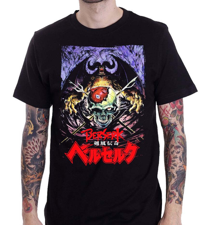Camiseta de Manga dibujos de Japón de Anime Berserk s-3xl a la moda para hombre, camiseta con envío gratis, camiseta de diseño a la moda de talla grande