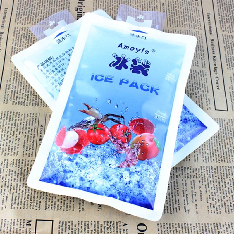 400 ml aislado reutilizable seco frío helado bolsa enfriadora de gel para caja de almuerzo latas de comida vino médico plasma de sangre marisco picnic leche
