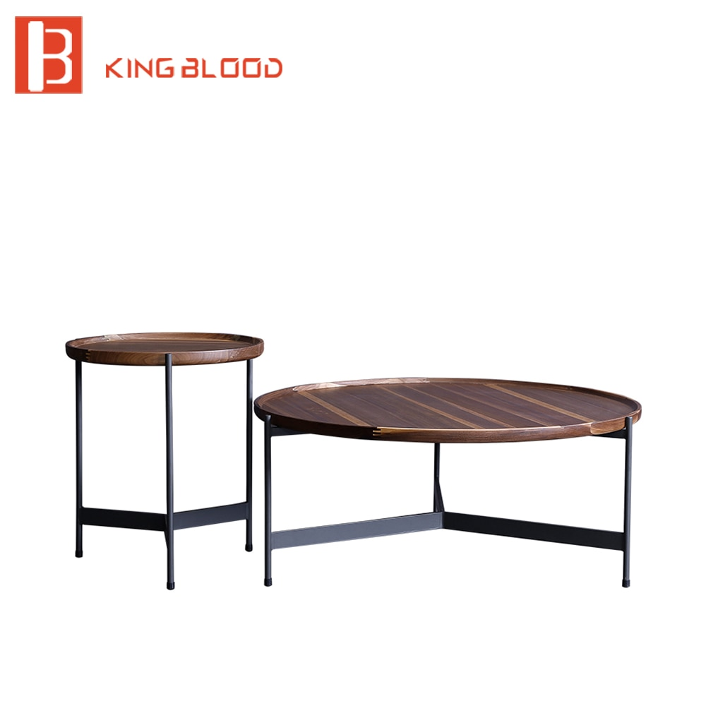 Juegos de muebles de sala de estar moderna mesa de centro de madera