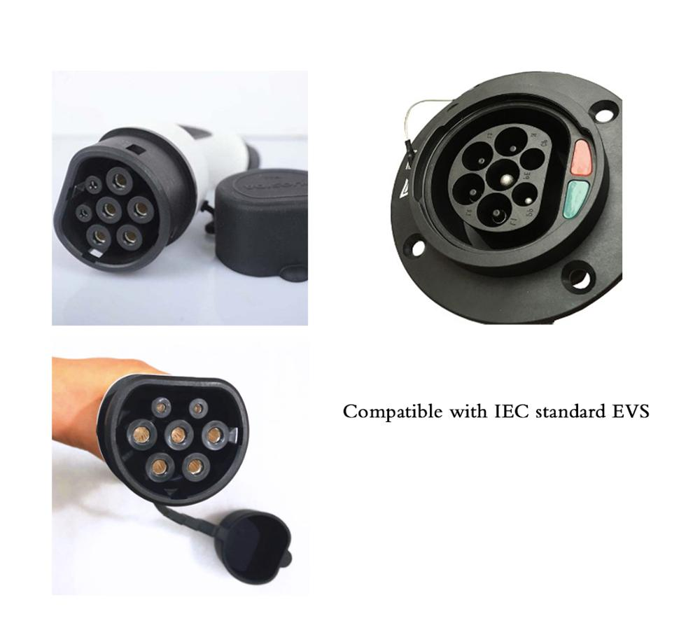 YKS-ESNES  Portable EV car Charger IEC 62196  16A  CEE 3 Pins Plug  5M  EV charger enlarge