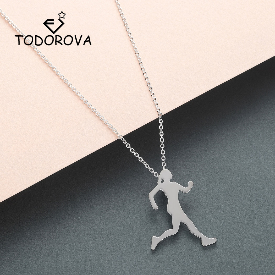 Todorova вдохновляющее ожерелье для девушек, женское ожерелье для марафона, кулон для влюбленных, спортивные ювелирные изделия, Прямая поставка