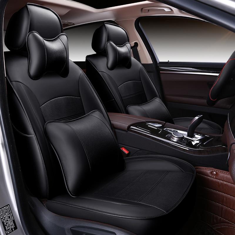 (Frente + traseira) tampas de assento de carro couro especial para great wall hover h3 h6 h5 m42 tengyi c30 c50 acessórios do carro estilo