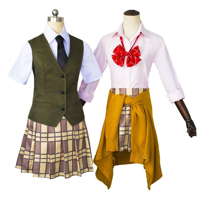 Anime japonés Citrus adorable disfraz para Cosplay Aihara Yuzu/Aihara Mei uniforme traje corbata/camisa/falda/chaleco/suéter/peluca C75131AD