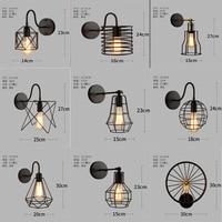 Vintage Wall Lamp Loft Bar Nordic Classic Black Bulb Wire Lamp Cage DIY Wall Lamp Industrial Guard Shade Lamparas