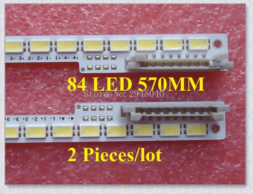 Envío gratis 2 unids/lote UA46D6400UJ tira de LED BN64-01645A 2011SVS46_6.5K_V2_4CH_PV_RIGHT84 LEFT84 para LTJ460HW01-H 84LED 570 M