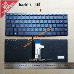 Us retroiluminado novo teclado portátil para hp pavilion 14-ab 14-ab010tx Tpn-Q171 TPN-Q158 848184-031