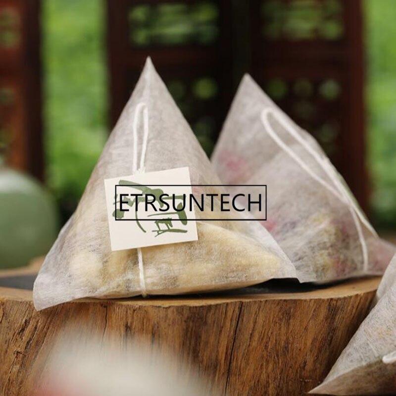 أكياس شاي من ألياف الذرة على شكل هرم ، فلتر حراري مانع للتسرب ، فلاتر شاي قابلة للتحلل من PLA ، 2000 × 7 سنتيمتر ، 5.8 قطعة