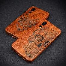 LYBALL Houten Telefoon Case 100% Echt Echte Natuurlijke Hout Bamboe Hard Cover voor Huawei Mate20 Mate10 P30 P20 P10 P9 plus