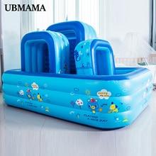 Center de natation gonflable pour famille   Matériau plastique, fond à bulles gonflable, trou de vidange, piscine gonflable pour enfants