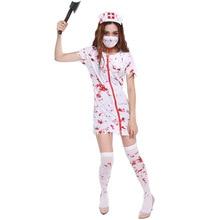 328Halloween party carnaval kigurumi cosplay costume horrible nurse dress tricky bloody Mary nurse tricky party