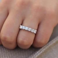 1 2ctw 3 5mm df round cut engagementwedding moissanite lab grown diamond band ring solid genuine 14k 585 white gold for women