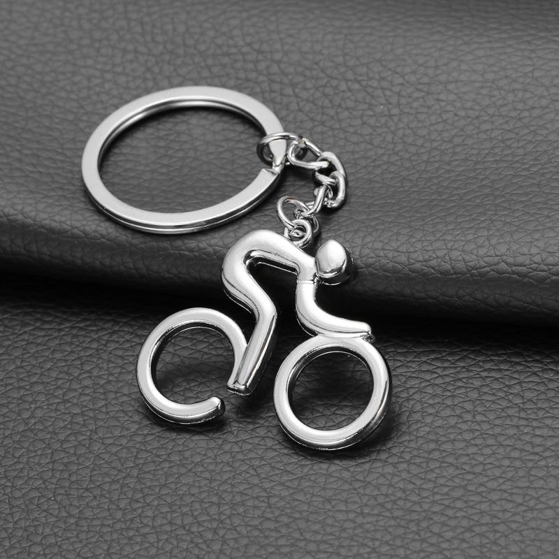 LLavero de figura de Metal deportivo para hombre, bicicleta de carretera, llavero de baratija, recuerdos creativos para bicicleta, amante del ciclista