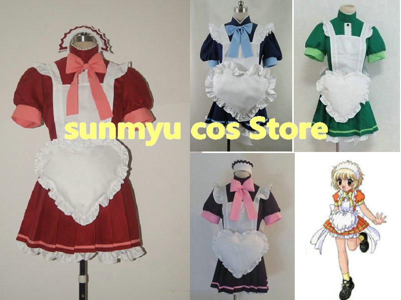 Frete grátis! tóquio mew ichigo minto alface zakuro pudim roupa de empregada traje cosplay, tamanho customizável