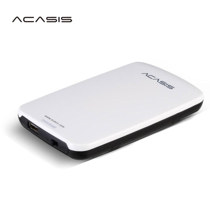 2.5'' ACASIS Original HDD External Hard Drive 160GB/250GB/320GB/500GB Portable Disk Storage USB2.0 Have Power Switch On Sale
