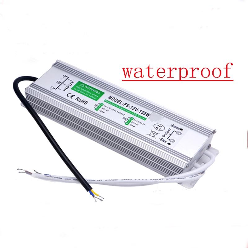 Transformador de controlador de led adaptador de fuente de alimentación AC110-260V a DC12V/24 V 10 W-100 W impermeable electrónica al aire libre IP67 para bajo el agua