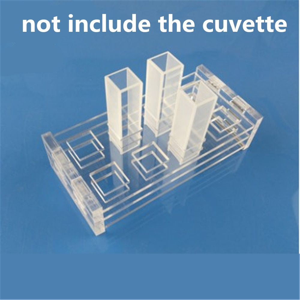 high quality cuvette stand rack for 10mm  quartz cuvette 10 holes 2pcs jgs1 melt quartz cuvette with lids 2mm spectrometer cell cuvette sided translucent with ptfe lid with box package