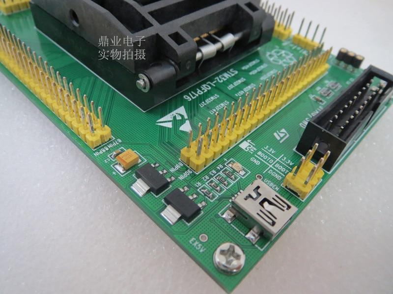 Original st ic assento de teste stm32f215 stm32f407 stm32f417 queima programm lqfp176 soquete adaptador