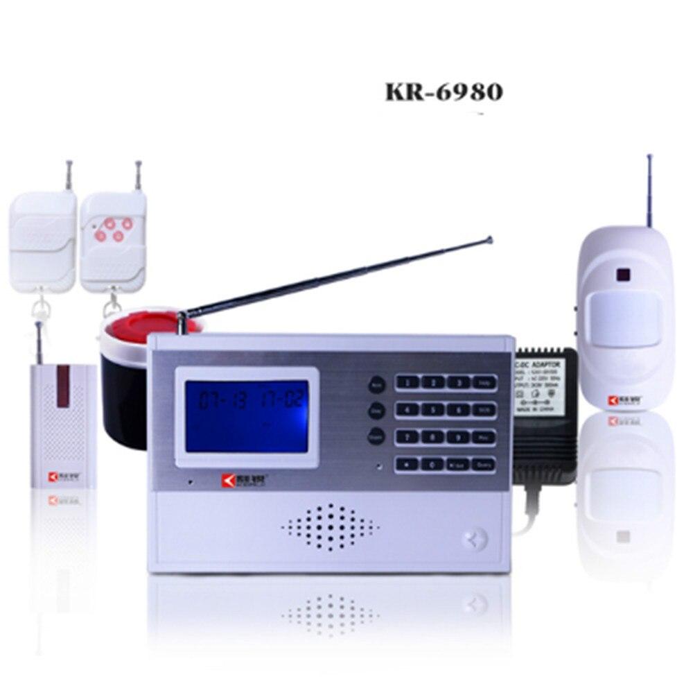 Sistema de alarma antirrobo basado en LCD PSTN con tipo de red