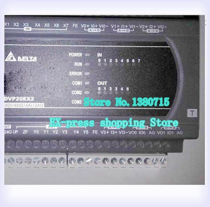 جديد الأصلي DVP20EX200R PLC EX2 سلسلة 100-240VAC 8DI 6DO التتابع الناتج 4AI 2AO