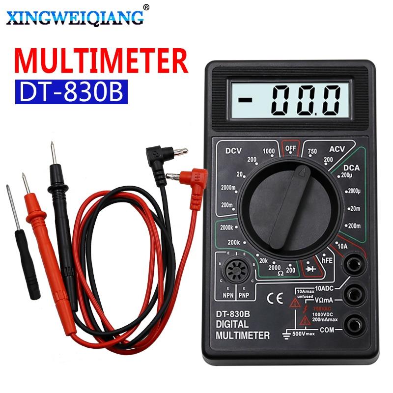 ЖК-цифровой мультиметр AC DC 750 1000 в цифровой мини мультиметр зонд для Вольтметр Амперметр Ом тестер метр