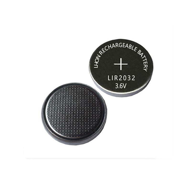 2 sztuk 3.6 V LIR2032 lir 2032 akumulator litowo-jonowy 40 mah akumulator litowo-jonowy przycisk monety komórek wymienić na CR2032 CR 2032