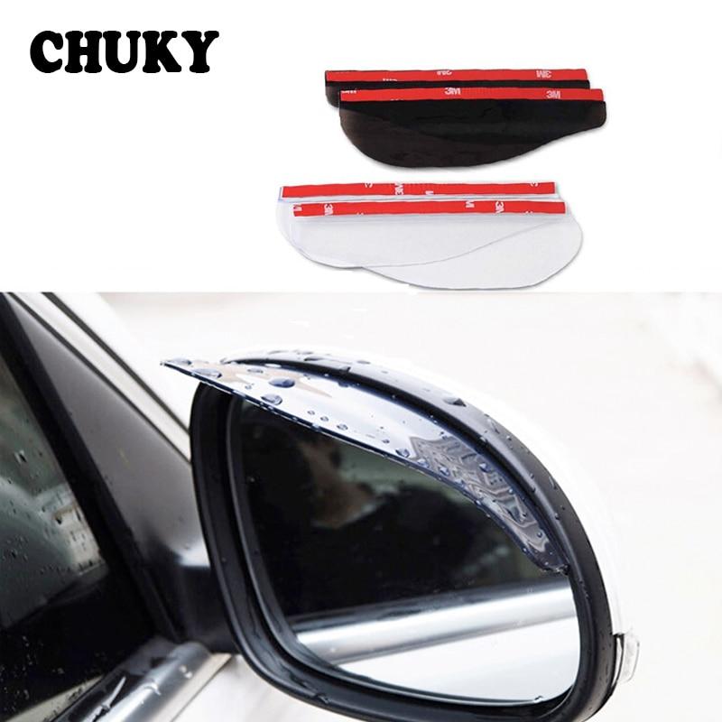 2Pcs PVC Car Sticker Back Mirror Eyebrow Rain Cover for Mini Cooper Citroen C5 C4 C3 Peugeot 206 307 407 308 207 208 508 2008