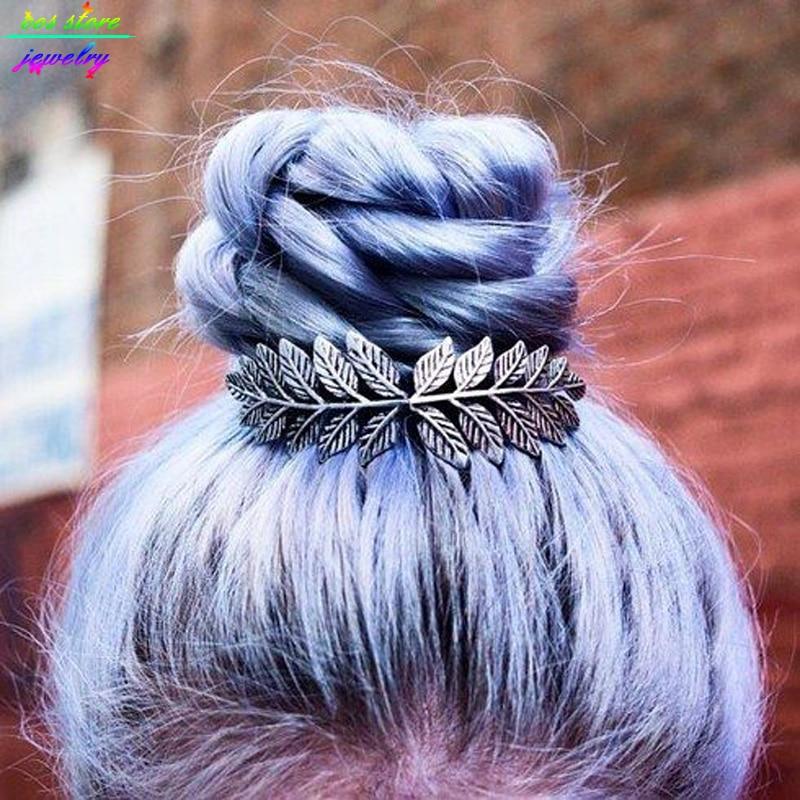 Unique Vintage Leaves Bun Top Hair Comb Vintage Wedding Hair Accessories Bijoux