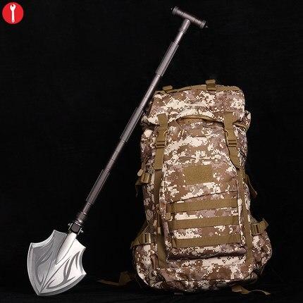 Camping shovel  shovel military Tactical Shovel  Outdoor Folding Spade  lifesaving hammer Axe shovel survival Tool