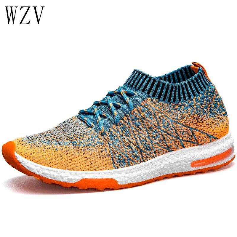 Zapatos de malla informales transpirables a la moda para hombre, nuevos zapatos de verano 2019, cómodos zapatos de caminar a la moda para hombre, talla de zapatillas 39-46 H262