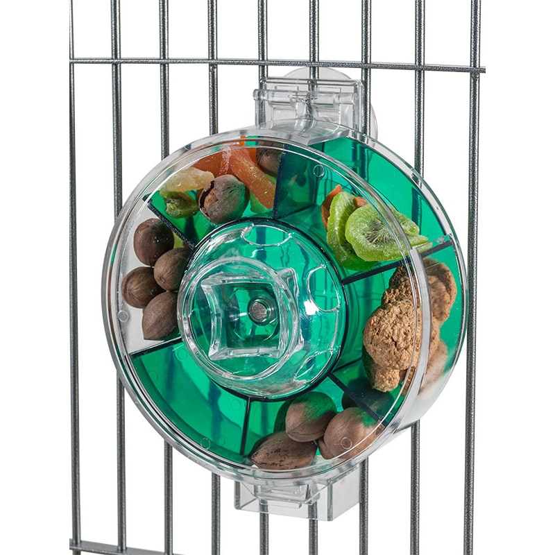 CAITEC Parrot Toys Large Foraging Wheel Tough Durable Bite Resistant Suitable for Medium or Large Parrots Classic Bird Toys