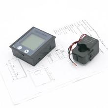 AC 80-260V 100A voltímetro amperímetro AC potencia/medidor de energía de Voltimetro Amperimetro y STN retroiluminación LCD y dividir CT