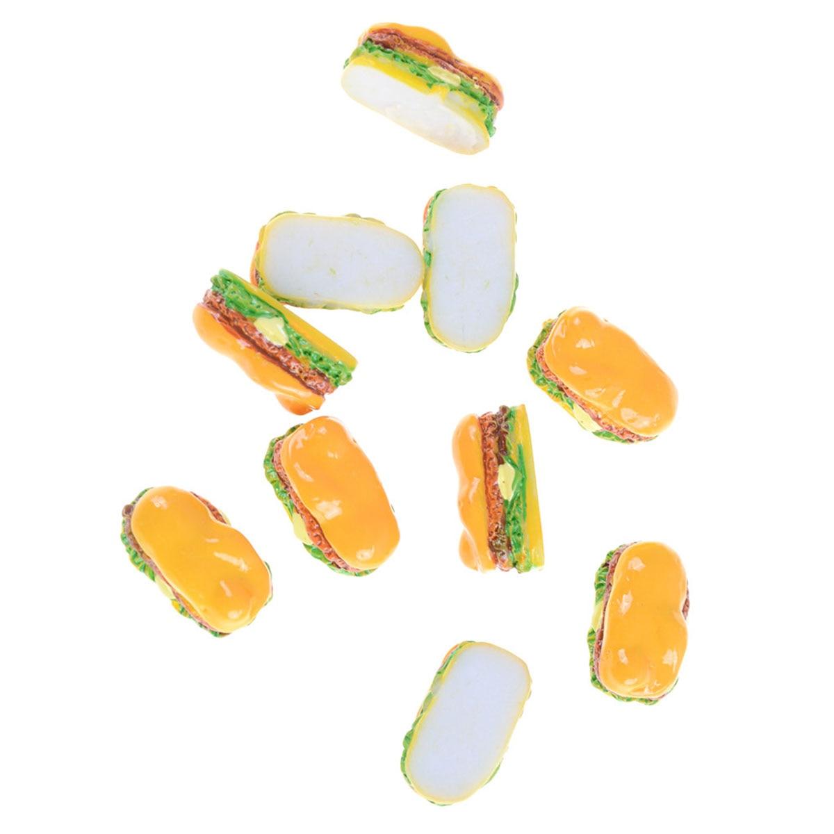 10 ⑤ упак. хот-дог пищевой набор 1:12 мини-еда для хот-догов хлеб кукла игрушки домик миниатюрные украшения