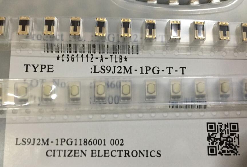 Japan CITIZEN LS9J2M-1PG-TT interruptor de tacto SMD 3*6*2,5 luces LED verdes
