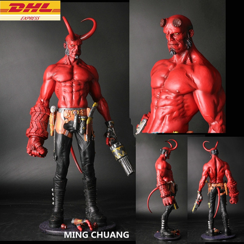 Estatua Hellboy busto Satán hijo retrato de longitud completa GK acción figura juguete de modelos coleccionables D296