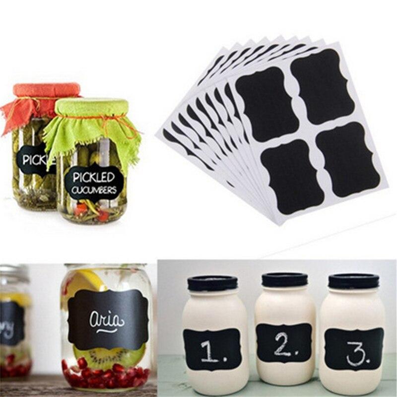 40 шт./компл. стикер для Blackboard Craft кухонные банки, органайзер, этикетки, доска меловая наклейка, черная доска, Виниловая наклейка