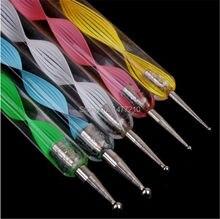 5 قطع 2way مسمار فن تصميم مجموعة التنقيط الطلاء أدوات الرسم فرشاة البولندية القلم على الأظافر الطبيعية البولندية البلاستيك عدة